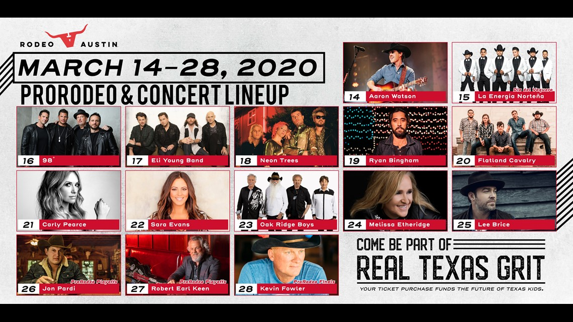 Rodeo Austin 2020 Lineup Released Kcentv Com