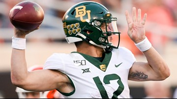 Baylor falls to Oklahoma 34-31, ending the Bears' playoffs hopes