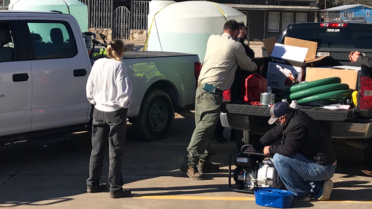 Williamson Co. water brigade sends 5,000 gallons to hard-hit communities