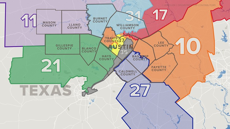 Before and after: How do the new district maps in Texas compare?