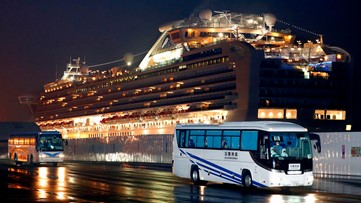 Trading quarantines, Americans from cruise land in U.S. | Update