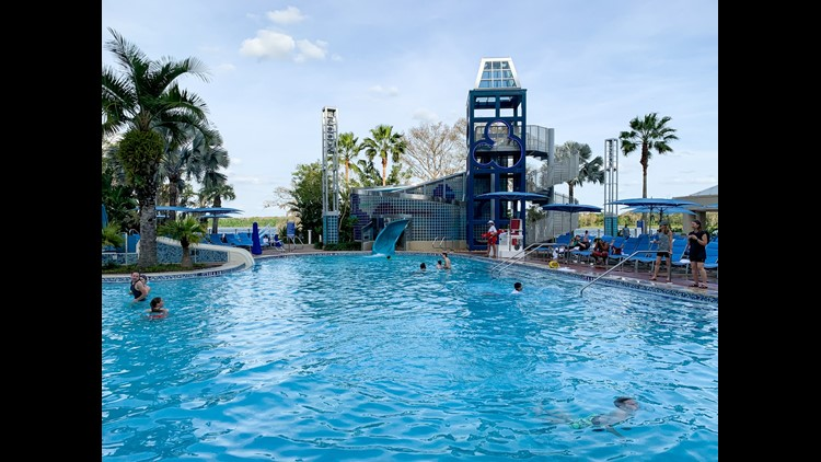 Pools of Disney's Bay Lake Tower (bookable with DVC points).