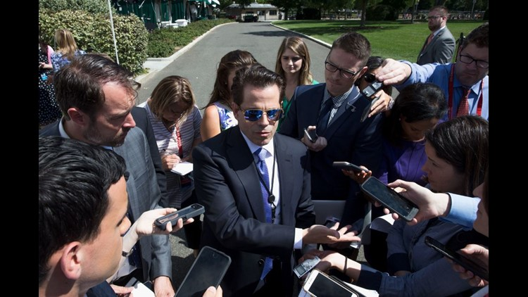 Anthony Scaramucci talks to media