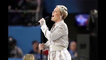 Pink sings Super Bowl national anthem despite having the flu