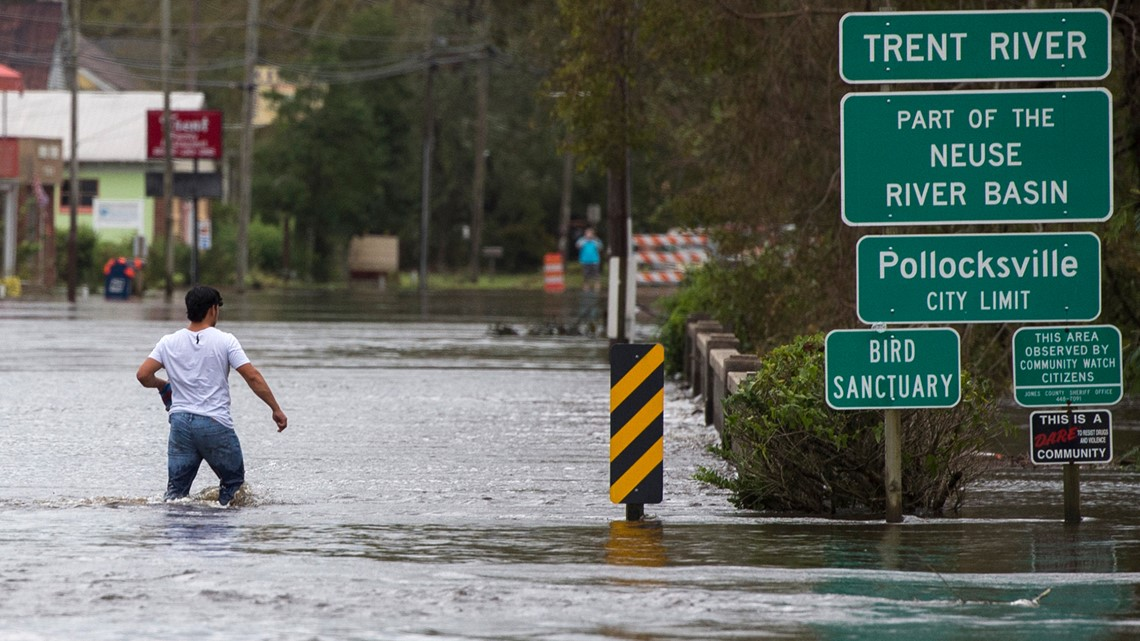Florence: Wilmington resurfaces after landfall, now bracing for flooding and no power""