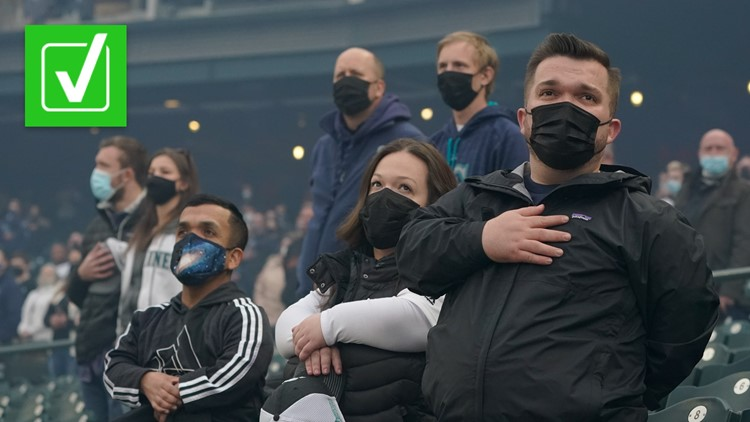 Yes, fans can be required to wear masks at sporting events