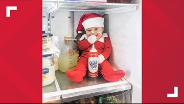 East Tennessee baby acts like real-life Elf on the Shelf