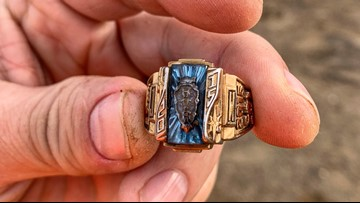 A YouTuber unearthed a lost class ring. It belonged to a Tennessee high school mascot