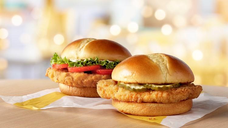 McDonald's is testing a new chicken sandwich in Houston