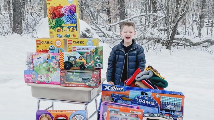 'I'm still going': 8-year-old in Greene continues tradition of buying toys for kids in the hospital