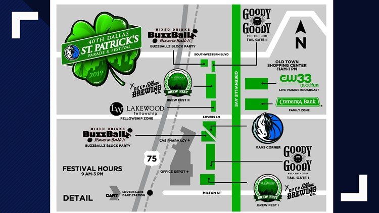 St. Patrick's Day Parade map