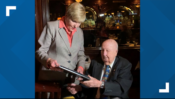 'I'm proud of what I did after the war': WWII veteran honored on his 100th birthday