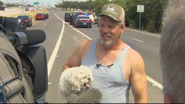 When this scrapyard worker's truck was stolen, all he cared about was his dog