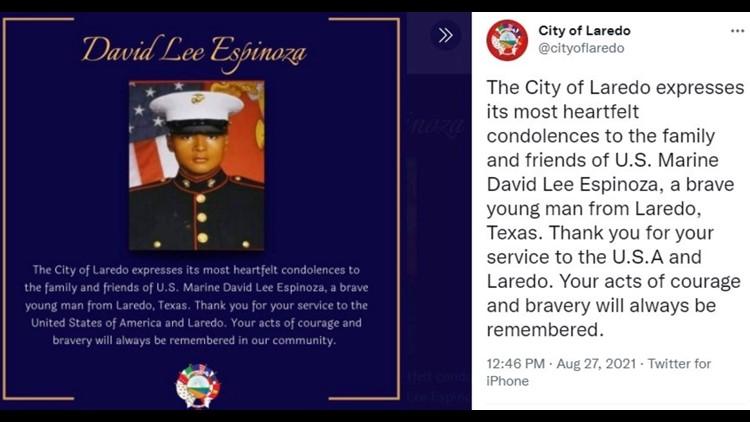 Marine killed in Kabul bombings identified as high school graduate from Texas