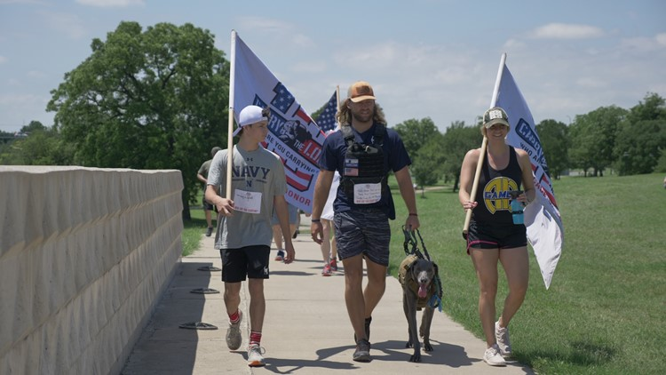 The true meaning of Memorial Day: Veterans march held in Fort Worth in effort to help families who've lost loved ones