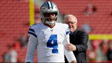 Cowboys owner Jerry Jones couldn't be more pleased with QB Dak Prescott