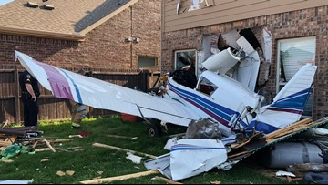 'It felt like an explosion': Plane removed from McKinney home after crash