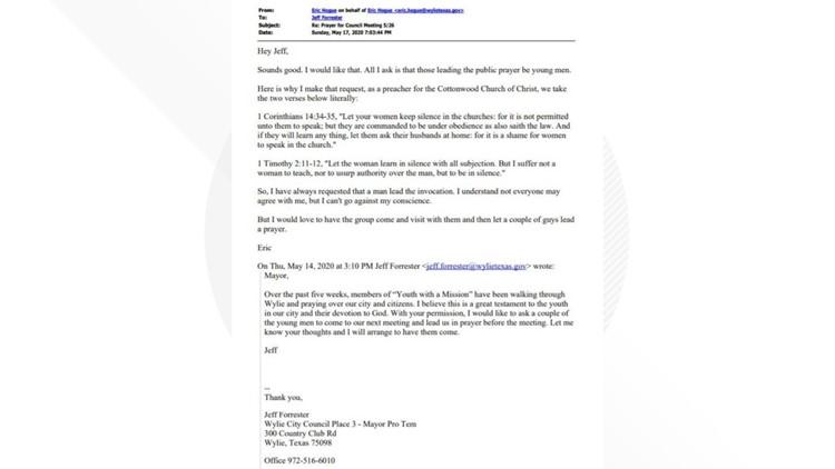 wylie mayor email