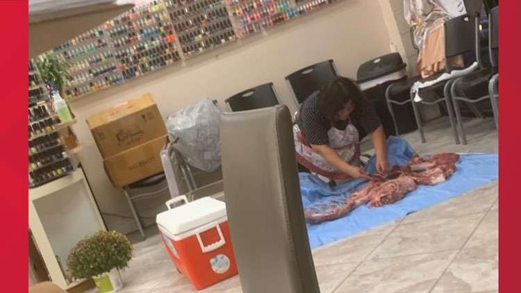 'Oh, Buck No!' Deer Butchered in the Middle of High Point Nail Salon, Customer Says