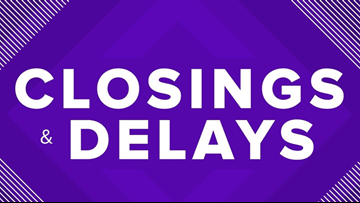 Weather cancellations and delays around Central Texas