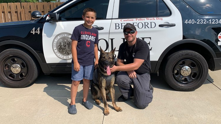 Ohio boy raises money to buy more than 200 bullet-proof vests for police dogs
