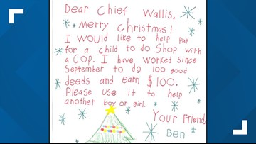 Ohio boy donates $100 he earned to help buy holiday gifts for another child