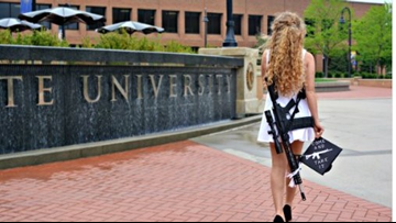 Gun rights advocate Kaitlin Bennett says she faced 'riot' at Ohio University, wants President Trump to strip school's funding