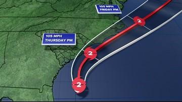 Hurricane Dorian: forecast track, cone, spaghetti models