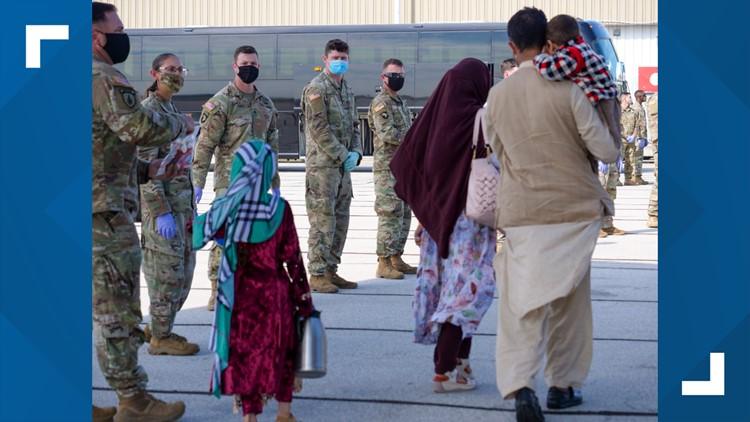 Afghan evacuees begin arriving at Camp Atterbury