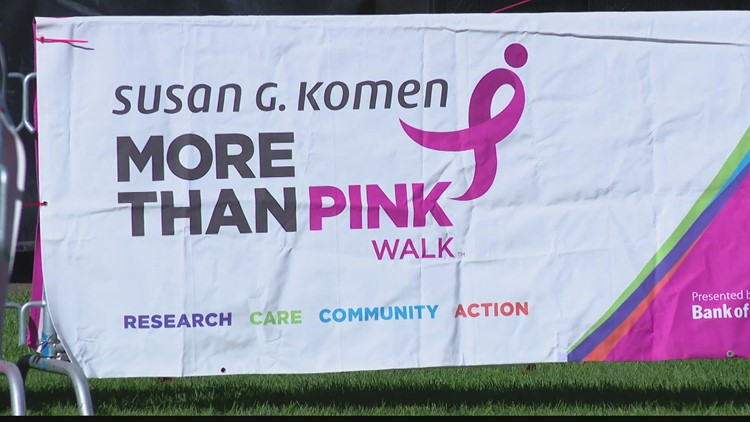 Raise money for breast cancer research at 'More Than Pink Walk' this Sunday