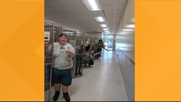 Jacksonville, FL. Humane Society shows off empty animal cages ahead of Hurricane Dorian