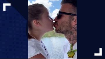 Is it weird to kiss your daughter on the lips? David Beckham doesn't think so