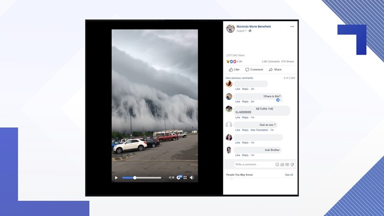 """After watching a video of this shelf cloud, you might think: """"The sky is falling!"""""""