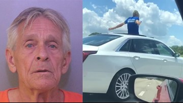 FHP: Florida man driving Cadillac from sunroof says he'd rather go to jail than back to his wife