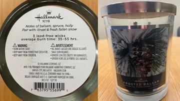 Hallmark recalls line of scented candles