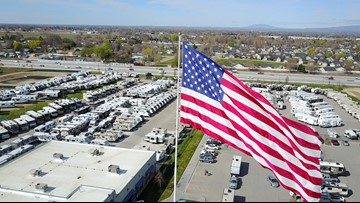 Massive flag debate: North Carolina city trying to force RV lot to take down giant US flag