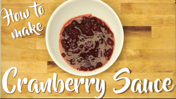 How to make cranberry sauce for Thanksgiving