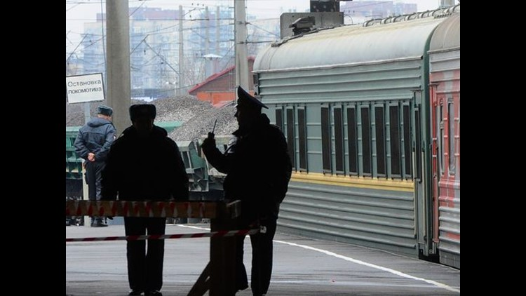 <p>Ten people were killed and dozens more injured Monday when an explosion rocked a subway train in the Russian city of St. Petersburg, authorities said.</p>