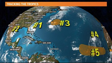 Tropical Storm Fernand forms in Gulf of Mexico