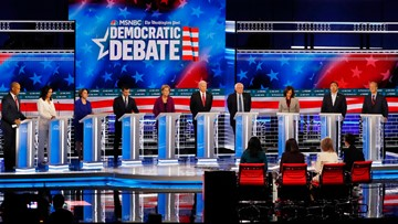 This is what happened at the Democratic debate in Atlanta