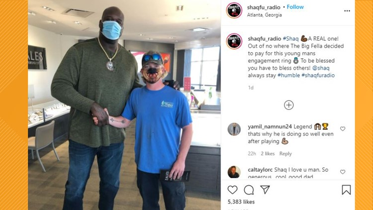 Shaq pays for Georgia man's engagement ring in random act of kindness