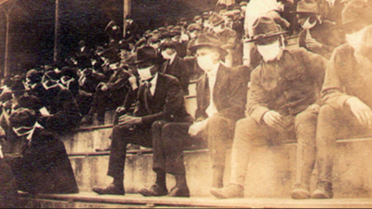 Fans at Georgia Tech during the 1918 pandemic