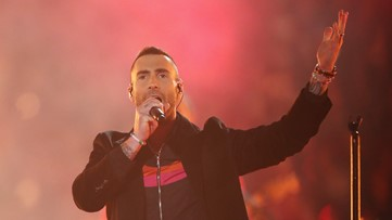 Maroon 5 brings flashy halftime show to Super Bowl 53