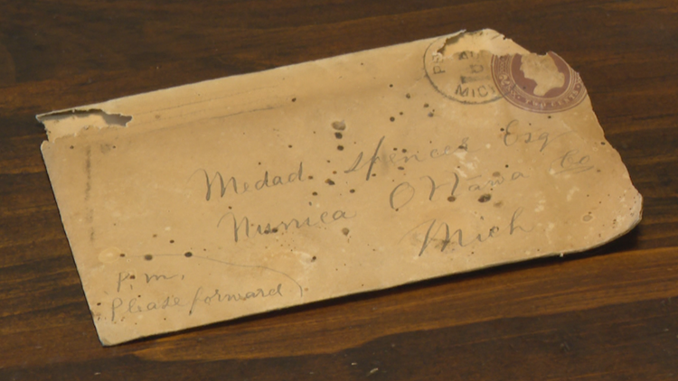 1886 letter found hidden behind baseboard in Michigan man's home